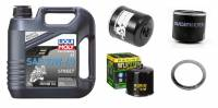 Tools, Stands, Supplies, & Fluids - Liqui Moly - Liqui Moly 10W-40 Synthetic Oil Change Kit: Ducati Scrambler 803cc