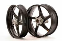 "BST Wheels - 5 Spoke Wheels - BST Wheels - BST Diamond TEK Carbon Fiber 5 Spoke Wheel Set: Ducati 749-999 [5.75"" Rear]"