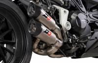 QD Exhaust - QD Exhaust Gunshot 2>1>2 Slip-On: Ducati Diavel '19-'20