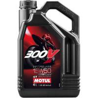 Tools, Stands, Supplies, & Fluids - Fluids - Motul - Motul 300V Factory Line Road Racing Synthetic 4T Oil 15W-50 4L