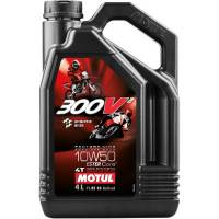 Tools, Stands, Supplies, & Fluids - Fluids - Motul - Motul 300V2 Factory Line Road Racing Synthetic 4T Oil 10W-50 4L