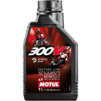 Tools, Stands, Supplies, & Fluids - Fluids - Motul - Motul 300V2 Racing Factory Synthetic 4T Oil 10W-50 1 L