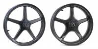 "BST Wheels - BST Twin TEK 5 Spoke Carbon Fiber Wheel Set 5.5"" x 17"" / 3.5"" x 17"": Ducati Scrambler"