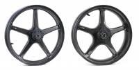 """BST Wheels - BST Twin TEK 5 Spoke Carbon Fiber Wheel Set 5.5"""" x 17"""" / 3.5"""" x 17"""": Ducati Scrambler"""