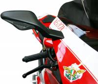 Body - Mirrors - Oberon - Oberon Mirror Extender Kit: Ducati 848-1098-1198