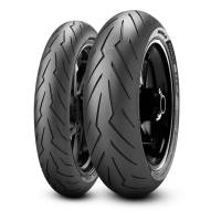 Parts - Wheels & Tires - Pirelli - Pirelli Diablo Rosso 3 Tire Set: 120/70R17 & 180/55ZR17