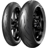 Parts - Wheels & Tires - Pirelli - Pirelli Diablo Rosso Corsa II Tire Set: 120/70ZR17 & 180/60ZR17