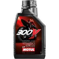 Tools, Stands, Supplies, & Fluids - Fluids - Motul - Motul 300V Factory Line Road Racing Synthetic 4T Engine Oil 15W50 [1 Liter]