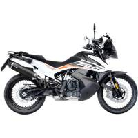 LeoVince - LeoVince Black Stainless Evo Slip-On Exhaust: KTM 790 Adventure/R
