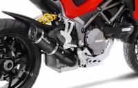 Parts - Exhaust - LeoVince - LeoVince Carbon Fiber Pro Slip-On Exhaust: Ducati Multistrada 1260