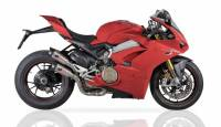QD Exhaust - QD Exhaust Twin Gunshot Exhaust: Ducati Panigale V4/S/R