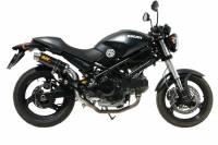 Mivv Exhaust - Mivv GP Carbon Slip-On High Mount Exhaust: Ducati Monster 695