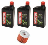Tools, Stands, Supplies, & Fluids - Fluids - Motul - Motul 5100 Oil Change Kit with K&N Oil Filter: BMW G650X Challenge/Country, G650GS