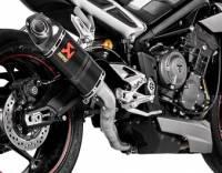 Akrapovic - Akrapovic Carbon Fiber Slip-On Exhaust: Triumph Street Triple 765 R/RS/S '17+