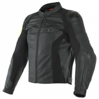 Men's Apparel - Men's Leather Jackets - DAINESE - Dainese VR46 Pole Position Leather Jacket