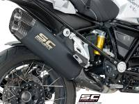 SC Project - SC Project Adventure Matte Black Titanium Exhaust: BMW R1200GS '13-'18