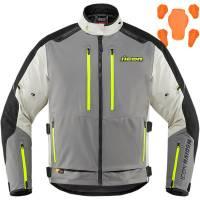 Men's Apparel - Men's Textile Jackets - Icon  - Icon Raiden Jacket [Gray/Hi-Viz]