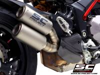 Exhaust - Full Systems - SC Project - SC Project Twin CR-T Titanium Slip-On Exhaust: Ducati Multistrada 1260