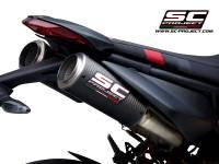 SC Project - SC Project CR-T M2 Carbon Fiber Slip-On Exhaust: Ducati Hypermotard 950/SP