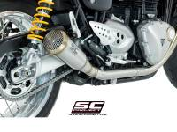 SC Project - SC Project Conic 70's Style Exhaust: Triumph Speed Twin '19+, Thruxton 1200/R '16+