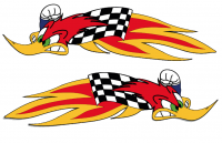 "Tracks of the World - Nicky Hayden Woody woodpecker logo Sticker kit [Right/Left] ""Very High Quality"""