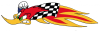 "Tracks of the World - Nicky Hayden Woody woodpecker logo Sticker [Left Side] ""Very High Quality"""