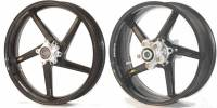"BST Wheels - 5 Spoke Wheels - BST Wheels - BST Diamond Tek Carbon Fiber 5 Spoke Wheel Set  [6.25"" Rear]: Suzuki GSX-R 1000 '17-'20"