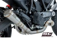 SC Project - SC Project Full Low Conical Exhaust: Ducati Scrambler 803 Series