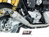 SC Project - SC Project Dual Conic Slip-On Exhaust: Triumph Thruxton 1200/R '16+
