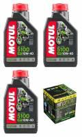 Motul - Motul 5100 Synthetic Blend 4T Oil Change Kit: Yamaha Tenere 700
