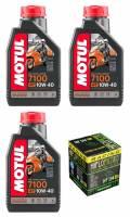 Motul - Motul 7100 Synthetic 4T Oil Change Kit: Yamaha Tenere 700