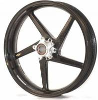 "BST Wheels - 5 Spoke Wheels - BST Wheels - BST Diamond Tek Carbon Fiber Front Wheel [3.5"" x 17""]: Suzuki GSX-R 1000 '17+"