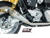 SC Project - SC Project 70's Style Dual Conic Slip-On Exhaust: Triumph Thruxton 1200/R '16+