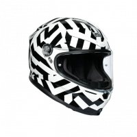 Helmets & Accessories - Helmets - AGV - AGV K6 Mono Helmet: Secret White/Black