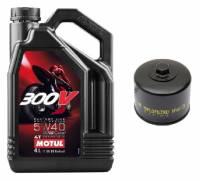 Motul - Motul 300V 5W-40 4T Oil Change Kit: BMW R1250GS/RS, R1200GS/R/RS/RT