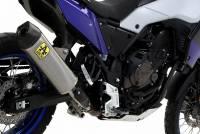 Exhaust - Slip-Ons - Arrow - Arrow Indy Titanium with Carbon End Cap Slip-on Exhaust: Yamaha Tenere 700