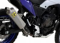 "Exhaust - Slip-Ons - Arrow - Arrow ""Rally Style"" Indy Titanium with Steel End Cap Slip-on Exhaust: Yamaha Tenere 700"