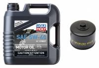 Liqui Moly - Liqui Moly HC Street 5W-40 4T Oil Change Kit: BMW R1250GS/RS, R1200GS/R/RS/RT