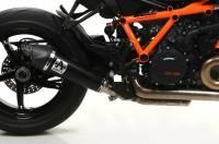 Exhaust - Slip-Ons - Arrow - Arrow Dark Stainless Steel Slip-On Exhaust: KTM Super Duke 1290 R