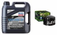 Liqui Moly - Liqui Moly Street 15W-50 4T Oil Change Kit: BMW R1200GS '04-'12, Adventure '05-'13, R nineT