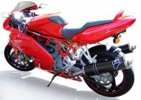 Termignoni - Termignoni Low Mount Carbon Fiber Exhaust: Ducati Supersport 620-750-900-1000