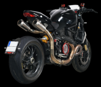 "Spark - Spark Ducati Monster 1200 R Titanium High ""Double-GP"" Cat Delete Exhaust System (2016+)"