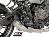 SC Project - SC Project Conic 70's Style Full Exhaust [With Kat]: Yamaha XSR700