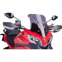 Body - Windscreens - Puig - Puig Race Windscreen [Dark Smoke]: Ducati Multistrada 1200 '13-'14
