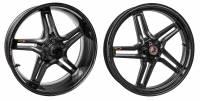 """BST Wheels - Rapid TEK 5 Split Spoke - BST Wheels - BST Rapid TEK 5 Split Spoke Carbon Fiber Wheel Set [6"""" Rear]: Kawasaki Z900RS/Cafe"""