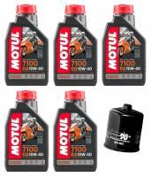 Motul - Motul 7100 Full Synthetic Oil Change Kit: Kawasaki Z900RS, Cafe