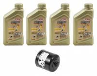Tools, Stands, Supplies, & Fluids - Fluids - Castrol - Castrol Power 1 Oil Change Kit: Triumph Street Triple 765 RS/S/R