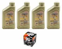 Tools, Stands, Supplies, & Fluids - Fluids - Castrol - Castrol Power 1 Oil Change Kit: Most Ducati