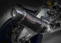 Yoshimura - Yoshimura 3QTR, Stainless Steel with Carbon Fiber End Cap  Slip-on Exhaust: Yamaha R1 '15-'19
