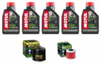 Tools, Stands, Supplies, & Fluids - Fluids - Motul - Motul 5100 Oil Change Kit: Africa Twin CRF1000L '16-'19